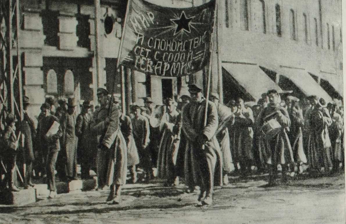 Вступление войск Дальневосточной Республики во Владивосток. Фотография. 1922 года.
