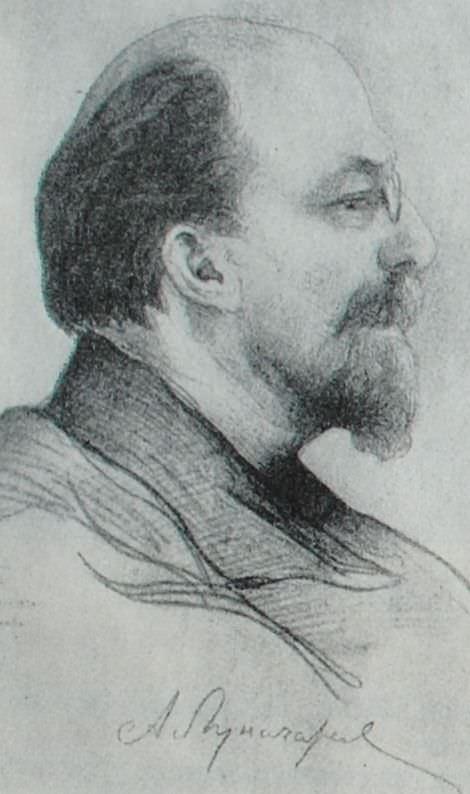 А.В. Луначарский. Рисунок И.И. Бродского. 1920 год.
